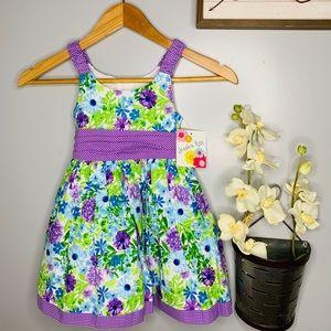 NWT Jessica Ann Floral Dress 3T